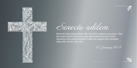 Vector Funeral card template