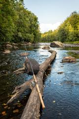 Fishing in Morrum river