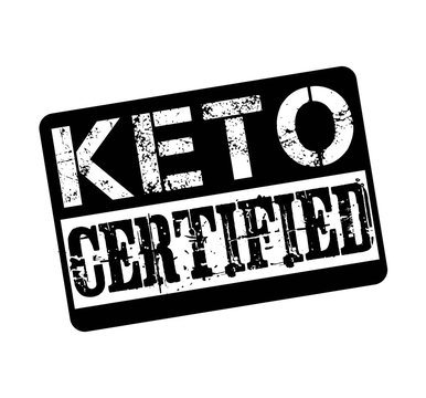 Keto sertified stamp isolated on white background. Vector illustration