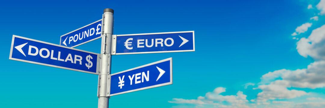 Guidepost Dollar, Euro, Pound and Yen