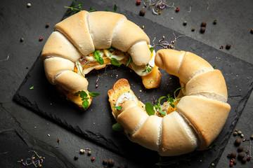Fotoväggar - Butter croissant sandwiches