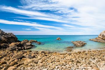 A beautiful beach along the coastline in Abel Tasman National Park, South Island, New Zealand.