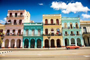 Wall Murals Havana Colonial buildings in Havana, Cuba (High resolution)