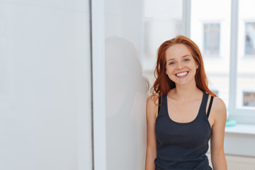 Confident relaxed woman with a friendly smile