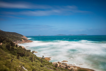 Long exposure of beautiful Norman beach in Wilsons promontory national park, victoria, Australia