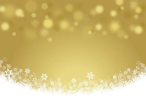 雪の結晶金の背景