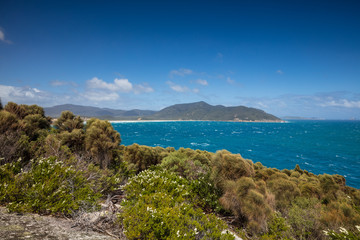 Little Oberon bay from Norman Point lookout in Wilsons Promontory national park, Victoria, Australia
