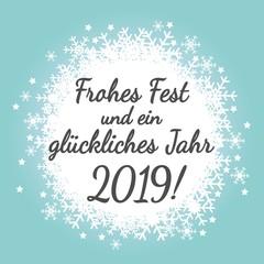Frohes Fest und ein glückliches Jahr 2019