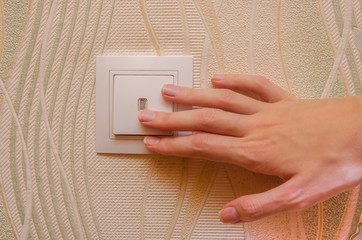 light switch, the female hand