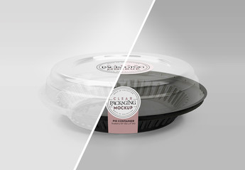 Clear Pie Lid Mockup