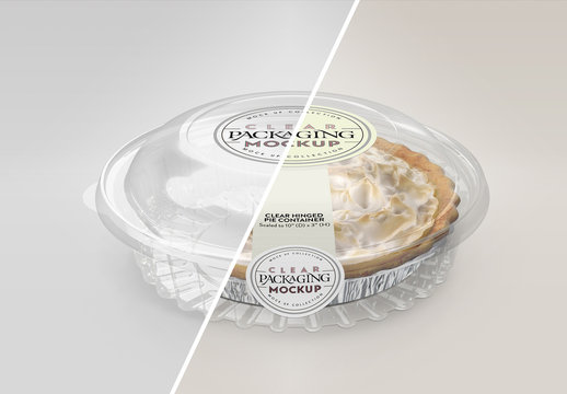 Clear Pie Container Mockup