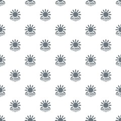 Sun energy pattern vector seamless repeat for any web design