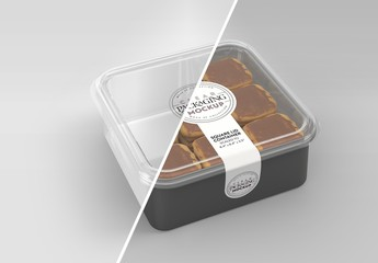 Clear Square Container Mockup