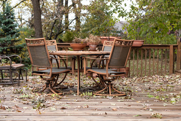 Garden Furniture in the Fall