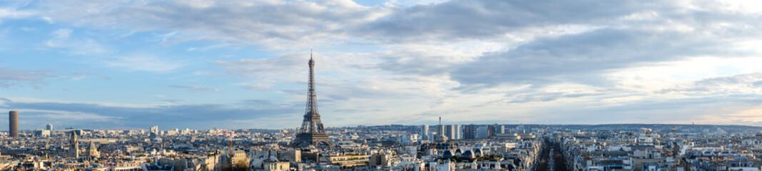 Foto auf Leinwand Eiffelturm View towards Eiffel Tower in Paris