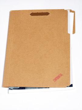 A confidential file folder