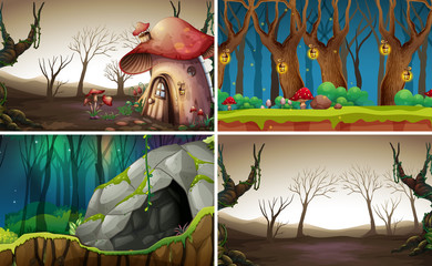 Fairy tale forest background