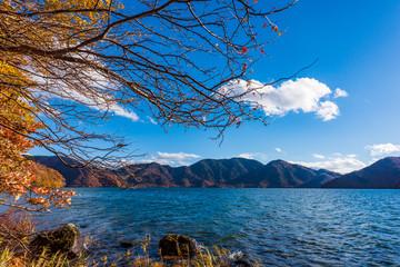 秋の中禅寺湖 Beautiful autumn color in Nikko Japan