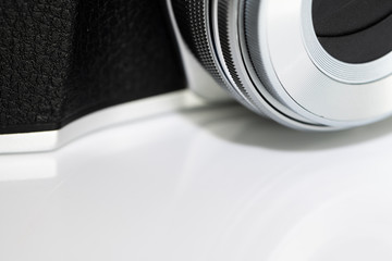 Simple close up of a Mirrorless DSLR Camera