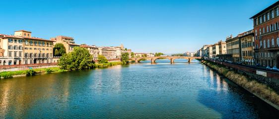 ponte alla Carraia panorama bridge caraia Florence in the morning