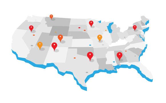 United States Geo Map