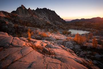 Morning glow over enchantments