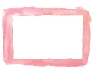 Light Pink Watercolor Border Frame