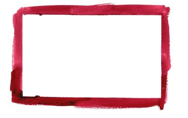 Red Watercolor Border Frame