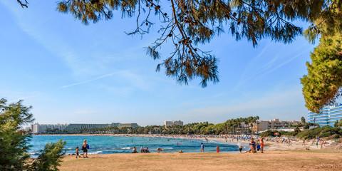 Sa Coma Beach in Mallorca, Mojorca, Spain