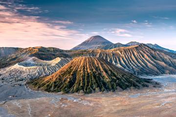 Mountains Bromo, Semeru, Batok and Widodaren at sunrise, Bromo Tengger Semeru National Park,  Java, Indonesia