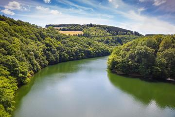 Luxembourg, Upper Sure nature park, Lultzhausen, Sure river