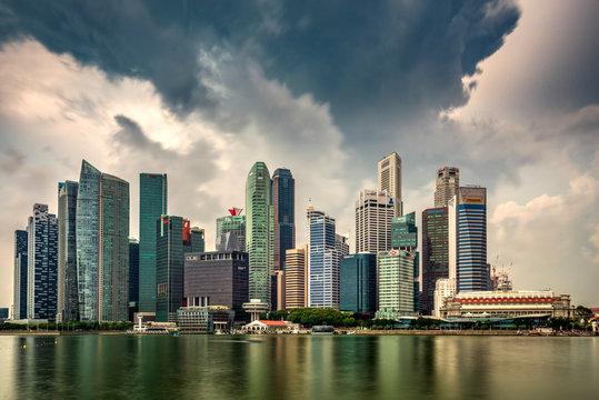 Financial district skyline, Singapore