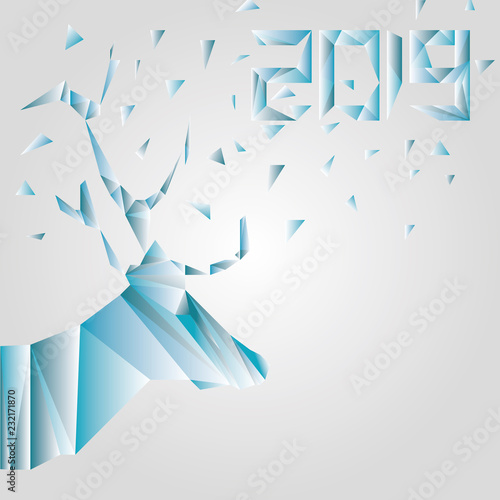 Cerf Low Poly Nouvel An Noël 2019 Stock Photo And Royalty Free