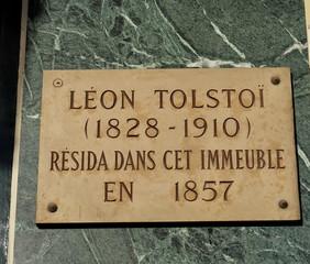 Léon Tolstoï  résida dans cet immeuble en 1857.