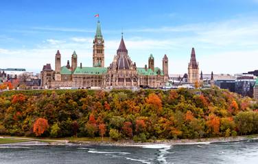Parliament Hill in Fall, Ottawa, Ontario, Canada Wall mural