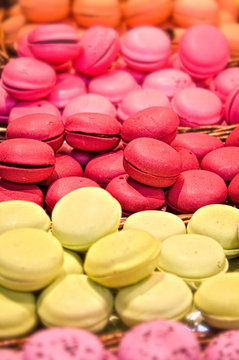 Colourful macrons on display