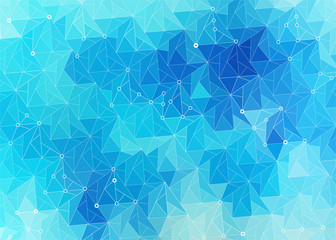 abstract stylized background of the ice blue surface of the triangles