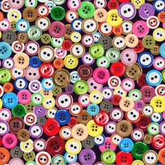 Seamless pattern with bright buttons. Vector illustration.