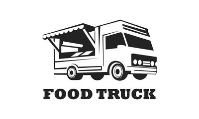 food truck logo design template
