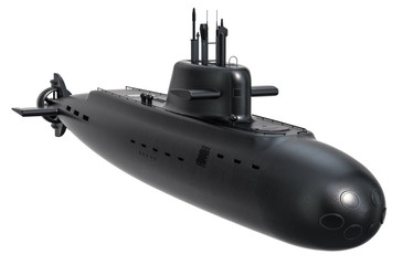 Submarine, 3D rendering