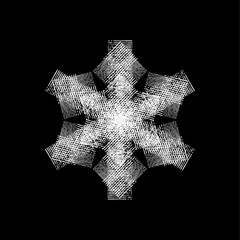 Grunge Isolated Snowflake