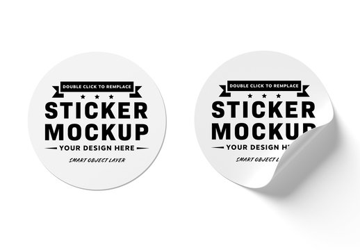 Isolated Sticker Mockups
