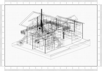 House Design Architect Blueprint