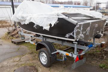 car trailer for boat transportation