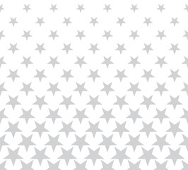 Geometric halftone vector pattern with stars. Usable as border, design element or background.