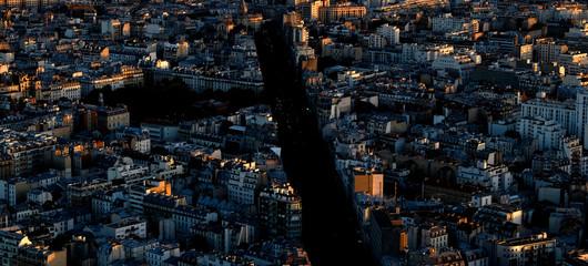 Sunset over Paris from Tower Montparnasse