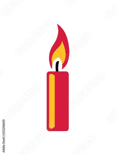 Flamme Feuer Kerze Wachs Brennen Dekorativ Design Clipart