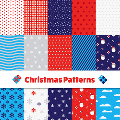 Set of Christmas Patterns and Illustrator Swatches