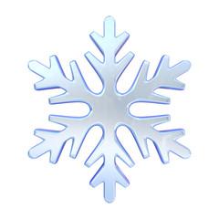 Blue simple snowflake 3D