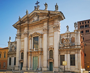 Italy, Mantua, Saint Peter apostle cathedral in Sordello square.